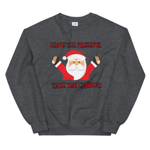 Leave the Presents, Take the Cannoli Sweatshirt