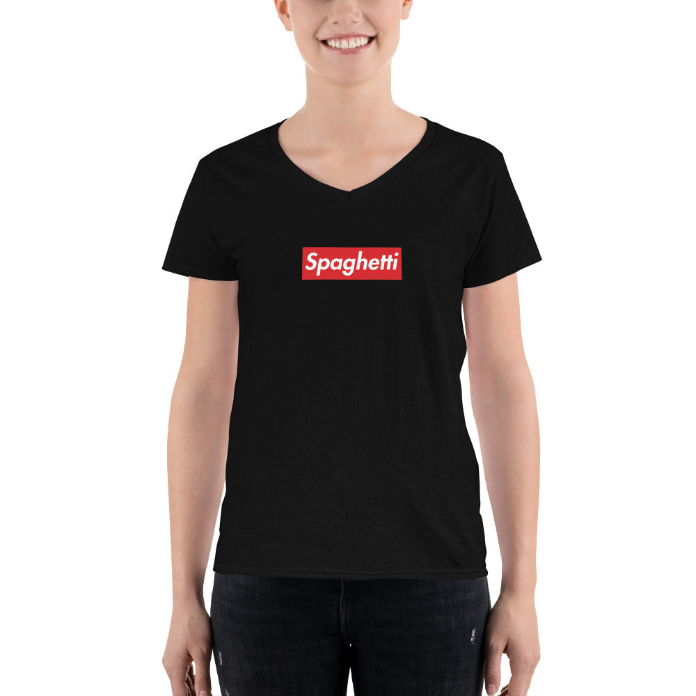 Women's Spaghetti V-Neck