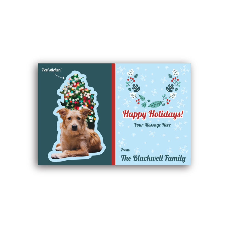 Holiday Sticker Cards
