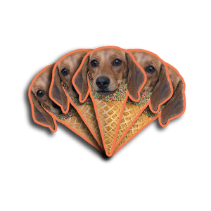 Ice Cream Cone Stickers