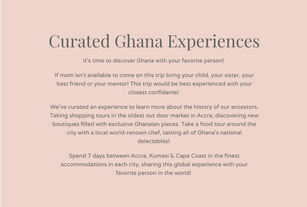 Curated Ghana Experiences