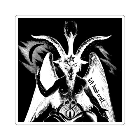 Baphomet Negative Square Stickers