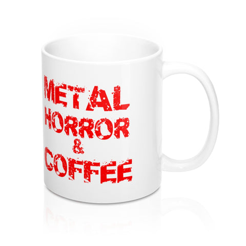 Metal Horror Coffee Mug 11oz - lefthandcraft