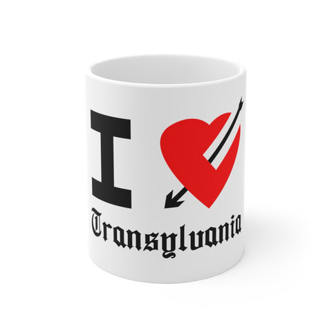 I Love Transylvania White Ceramic Mug - lefthandcraft