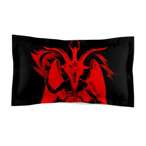 Baphomet Red - Pillow Case - Microfiber Pillow Sham