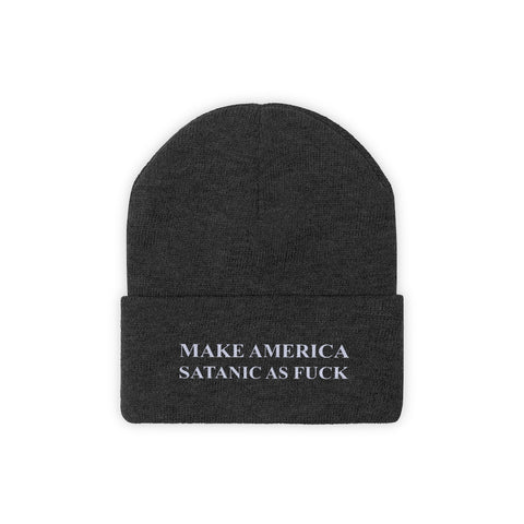 Make America Satanic As Fuck Knit Beanie