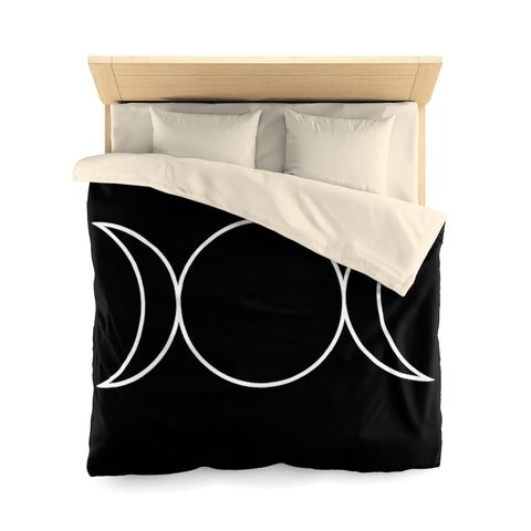 Triple Moon Goddess Microfiber Duvet Cover