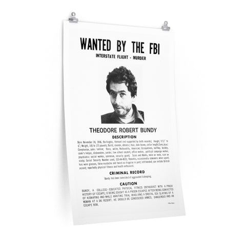 Ted Bundy FBI Wanted Poster Reprints
