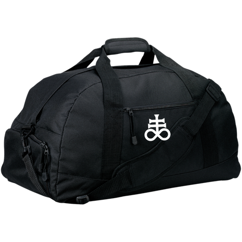 Leviathan Cross Embroidered Basic Large-Sized Duffel Bag