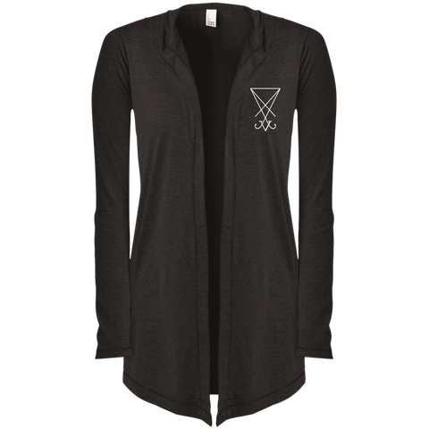 Sigil of Lucifer Embroidered Women's Hooded Cardigan