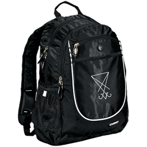 Sigil of Lucifer Embroidered Rugged Bookbag