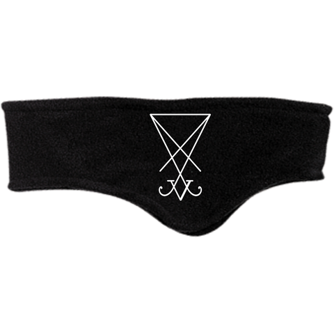 Sigil of Lucifer Embroidered Fleece Headband