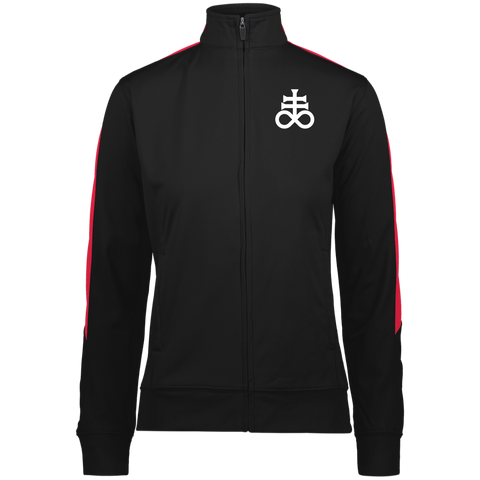 Leviathan Cross Embroidered Ladies' Performance Colorblock Full Zip