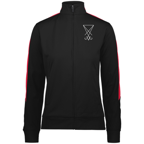 Sigil of Lucifer Embroidered Ladies' Performance Colorblock Full Zip