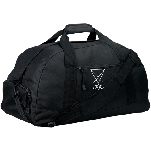 Sigil of Lucifer Embroidered Basic Large-Sized Duffel Bag
