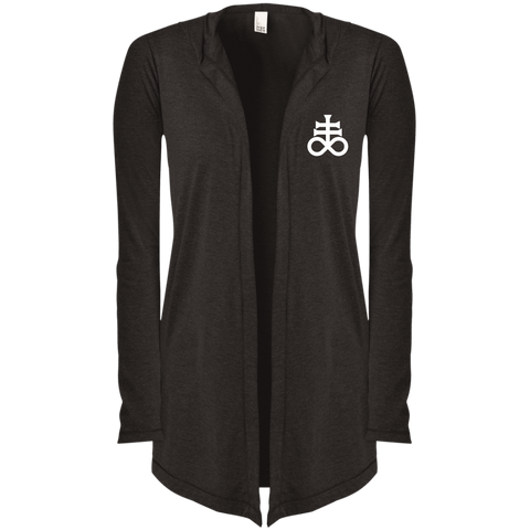 Leviathan Cross Embroidered Women's Hooded Cardigan