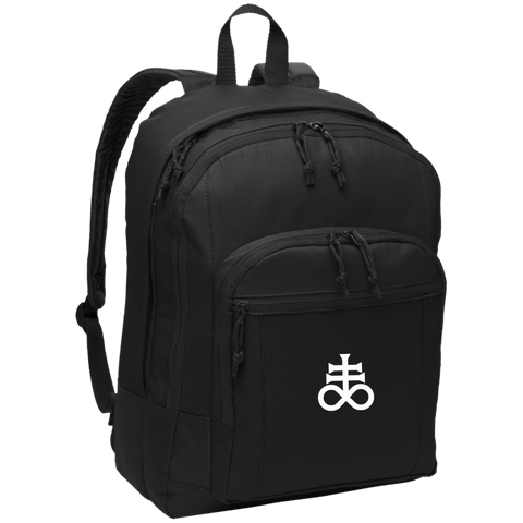 Leviathan Cross Embroidered Basic Backpack