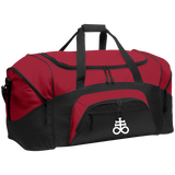 Leviathan Cross Embroidered Colorblock Sport Duffel