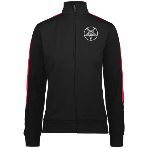Sigil of Baphomet Embroidered Ladies' Performance Colorblock Full Zip