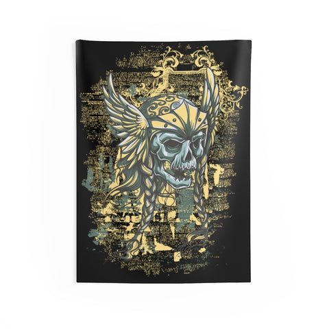 Viking Skull Wall Tapestries