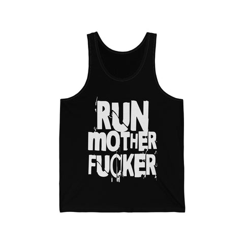 Run Mother Fucker Jersey Tank - lefthandcraft