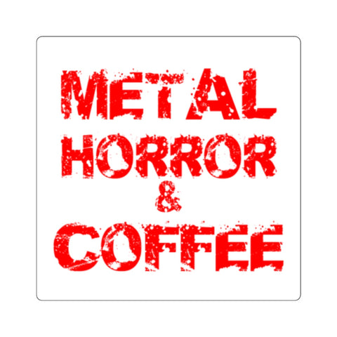 Metal Horror & Coffee Square Stickers
