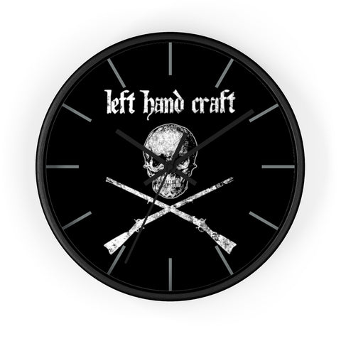 Left Hand Craft Crossed Muskets Wall Clock