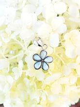 Load image into Gallery viewer, Flower Shaped Natural Larimar Sterling Silver Set