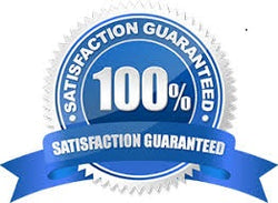 100 percent satisfaction guaranteed logo