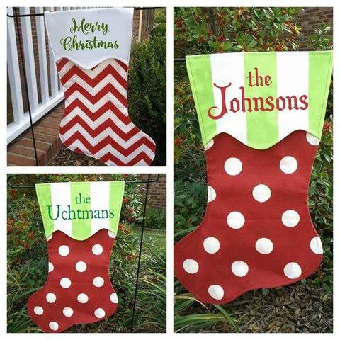 Christmas Stocking Garden Flag