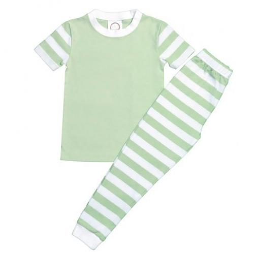 Short Sleeve Pastel Stripe PJs