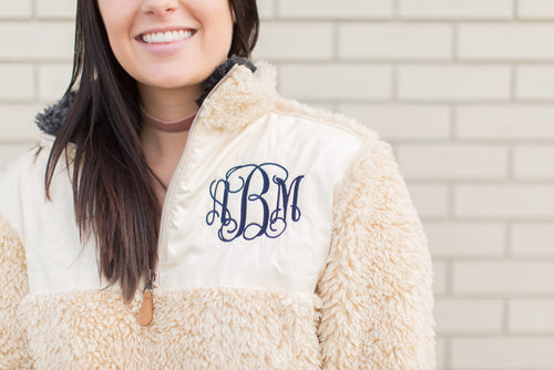 Clearance! Holiday Exclusive! Adult Sherpa Pullovers! FREE MONOGRAMMING!