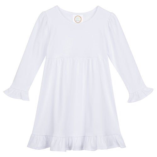Long-Sleeve Ruffle Empire Dress