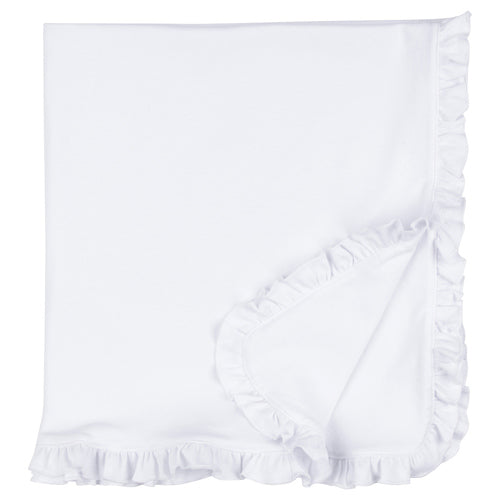 Premium Infant Baby Receiving and Crib Blanket with Ruffles
