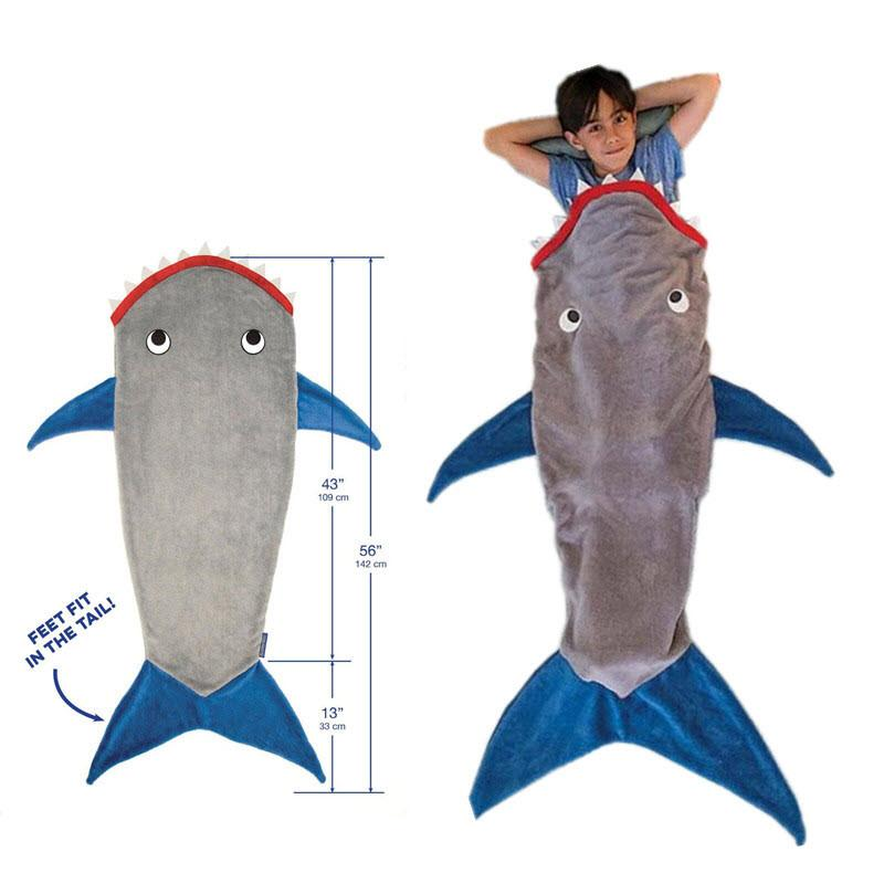 Shark Cuddle Blanket Sleeping Bag