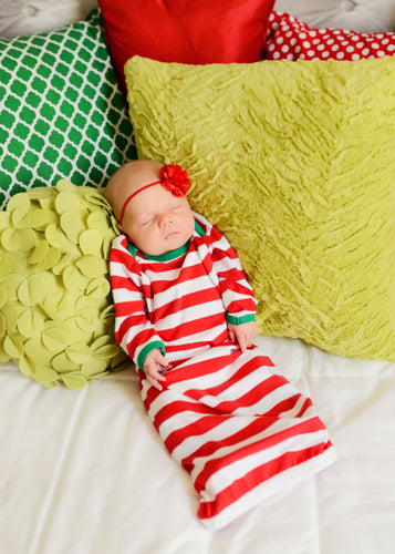 Christmas Infant Gown - FREE MONOGRAM