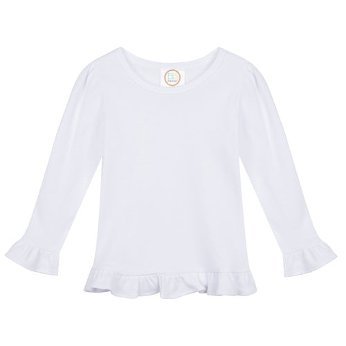 Long-Sleeve Ruffle T-Shirt