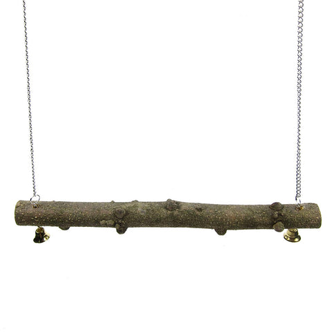 Alfie Pet by Petoga Couture - Hanson Wooden Perch Swing Toy for Birds