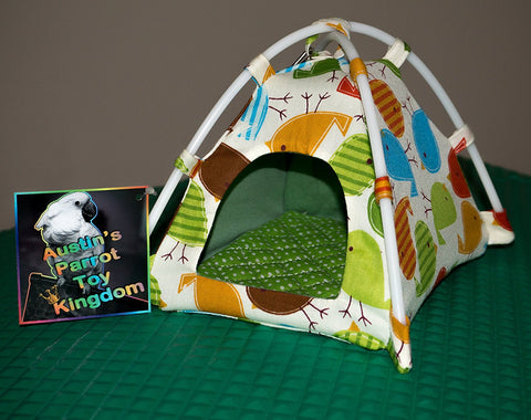 Austin's Parrot Toy Kingdom Colorful Hand Crafted Bird Nesting Tent