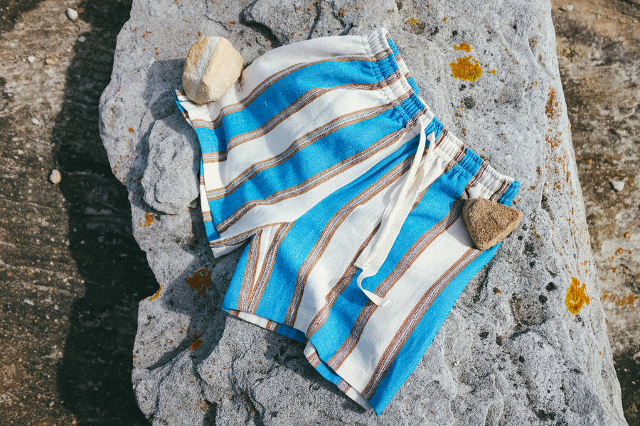 Afghan Cotton Stripe Short