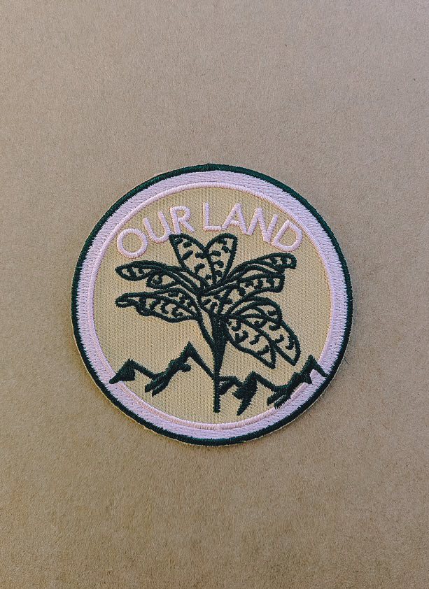 OUR LAND EMBROIDERED PATCH
