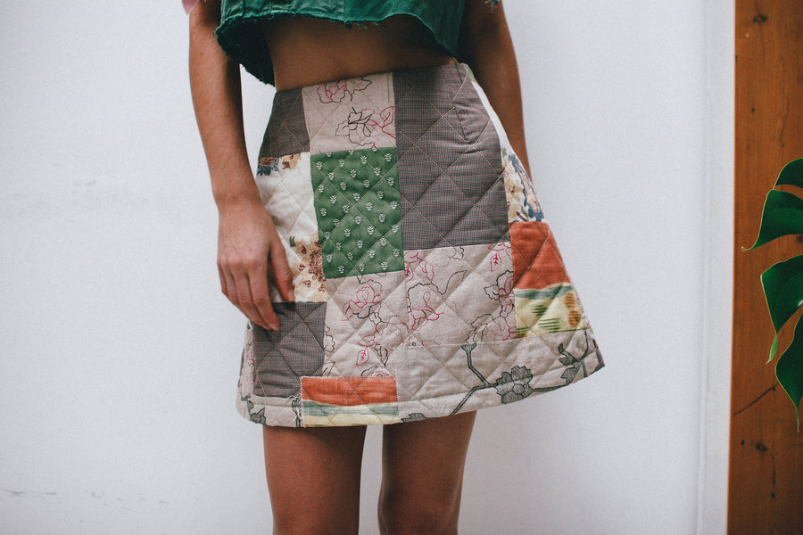 Patchwork Quilted Skirt