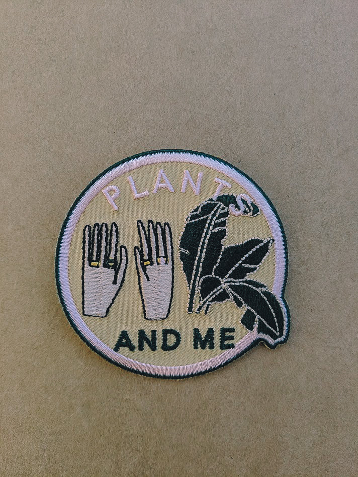 PLANTS AND ME EMBROIDERED PATCH