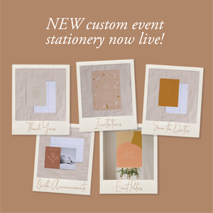 NEW Personalised Event Stationery Collection