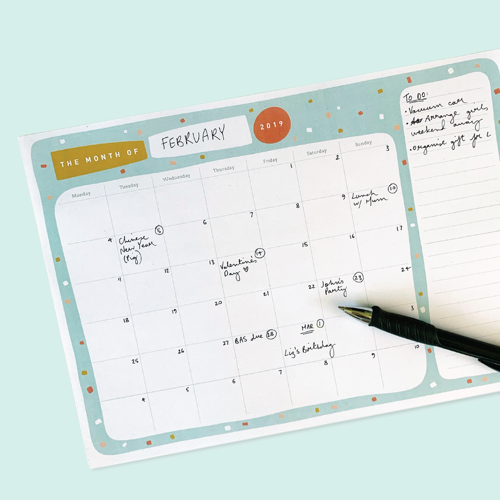 FREE 2019 Monthly Planner Printable Download