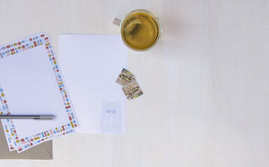Recycled Notepaper Writing Sets for hand-written letters, made in Australia.