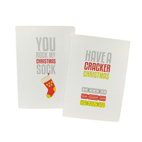 'Cracker Christmas Sock' Greeting Card Set of 10 Christmas Cards