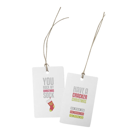 'Cracker Christmas Sock' Gift Tag Set of 10 Christmas Tags
