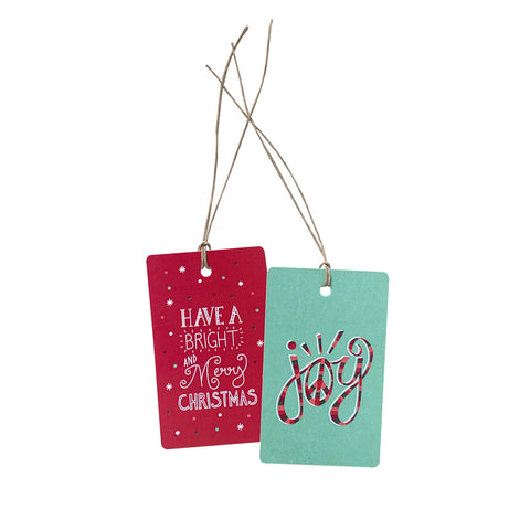 'Bright & Merry Joy' Gift Tag Set of 10 Christmas Tags