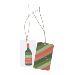 'Eat, Drink, Silly Season' Gift Tag Set of 10 Christmas Tags